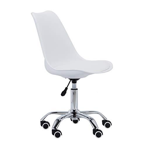 Cadeira Giratória Trevalla TL-CDD-06-2 Eames Home Design Branca