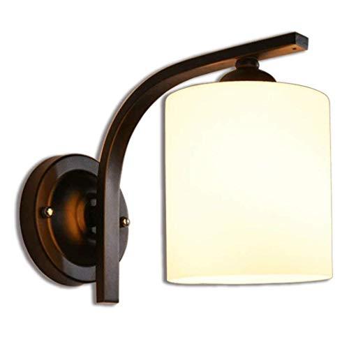 DKEE Lámpara de Pared Lámpara de diseño Retro de la lámpara de Pared cilíndrica de Vidrio Pantalla de lámpara lámpara de cabecera E27 Edison Lámpara Industrial Interior Iluminación Directa Decorativo