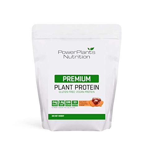 Vegan Protein Powder by Power Plants Nutrition. Premium Plant Protein Powder, Vegan, Gluten Free, 1Kg (Salted Caramel)