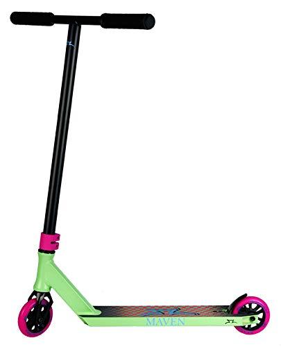 Patinete AO Maven 2020 Stunt Scooter Complete H = 86 cm + pegatina Fantic26 (verde)