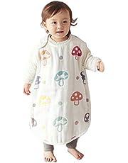 [10mois(ディモワ) - Hoppetta] ふくふくガーゼ(6重ガーゼ) ベビースリーパー コットン100% 新生児~3歳頃まで champignon 着丈58cm 7225