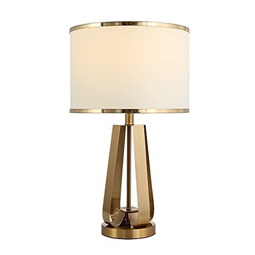 Lámpara de mesa Lámpara de mesa de control táctil Lámpara regulable Luz ambiental con tela blanca Shade Simple Night Light Lámpara de noche para dormitorio Sala de estar Noche Lámpara de Mesa