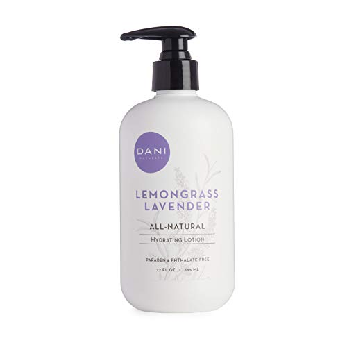 Natural Hand & Body Lotion by DANI Naturals - Calming Lemongrass Lavender Scented Aromatherapy - Moisturizing Shea Butter & Aloe - with Natural & Organic Ingredients - 12 Ounce Bottle