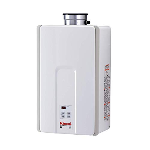 7.5 GPM V Series HE Natural Gas Tankless Hot Water Heater - Indoor Installation by Rinnai