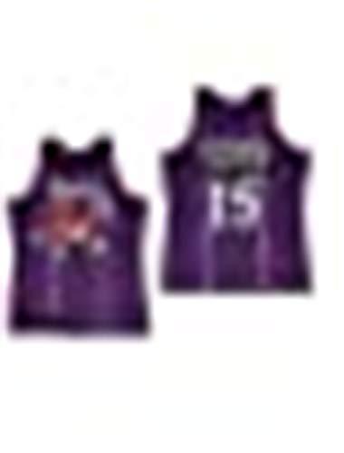 NBA Toronto Raptors 15# Vince Carter Vintage All-Star Jersey, Camiseta de Hombre y Unisex Shorts de Baloncesto Jersey (Talla: S, M, L, XL, XXL) (A,S)