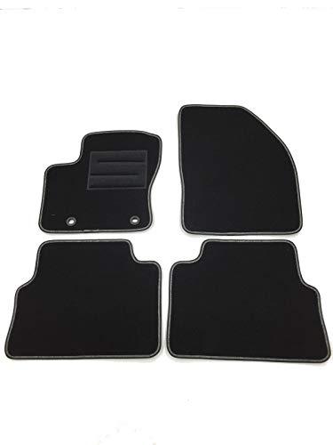 Ford C-Max 2011-2013 a medida Alfombrillas De Coche de piso alfombra Mat Blanco Negro Trim
