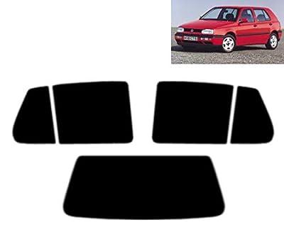 Film Solaire Prédécoupé Teinté pour-VW Golf III 5-Portes 1993-1998 Vitres Arrière & Lunette