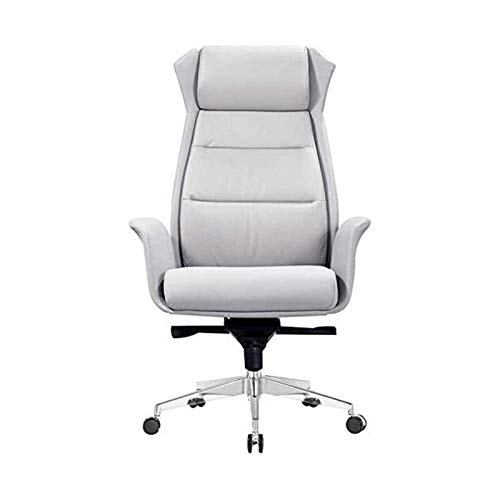 Höhenverstellbarer Bürostuhl Ergonomischer Executive Office Home Desk Stuhl Robuster Computerstuhl aus PU-Leder (Farbe: Schwarz, Größe: 12,4 x 72 x 75 cm)