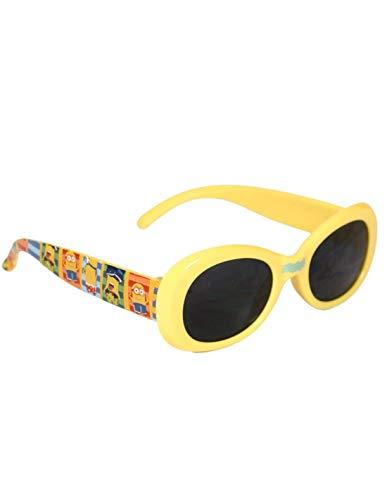 Les Minions - Gafas de sol con funda para niño, unisex, color amarillo amarillo Talla única
