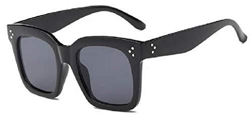 KIRALOVE - Gafas de sol para mujer - Grandes - Diva - Vintage - Retro - Oversize - Moda - Idea de regalo - Chica - Idea de regalo Montatura Nera - Lente Nera Talla única