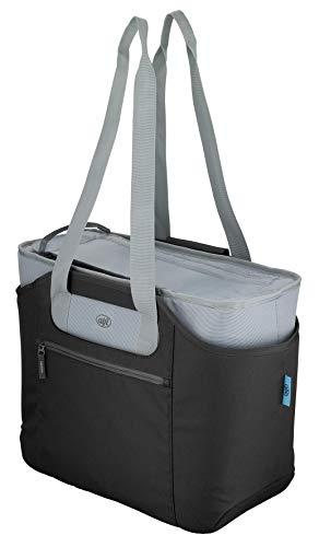 alfi Thermo-Kühltasche, isoBag XXL groß 30 Liter - Isolierte Einkaufstasche aus Polyester, schwarz 54 x 16,5 x 37 cm - 2in1, Isoliertasche inkl. extra Tragetasche - 0007.233.813