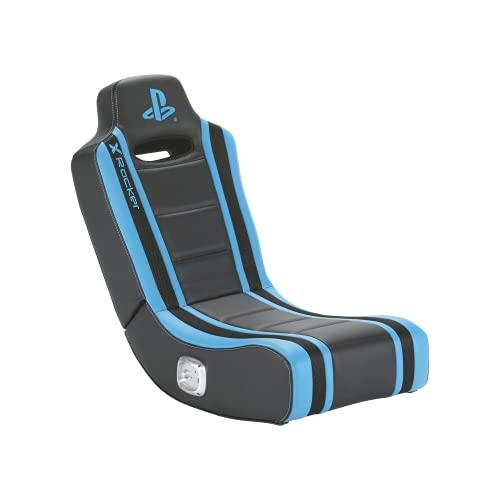 XRocker - Silla Gaming Azul y negra Playstation Geist con salida de...