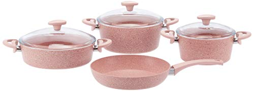 Schafer Toll - Juego de utensilios de cocina (7 piezas), color rosa