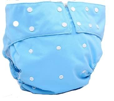 yuaseiharuおむつカバー 大人用 スナップ止め 失禁パンツ 介護用 オムツカバー速乾性 通気性 漏れ防止 しっかり吸水繰り返し洗濯 再利用可能 清潔使いやすい 大人 在宅介護/病院/施設 (ライトブルー)