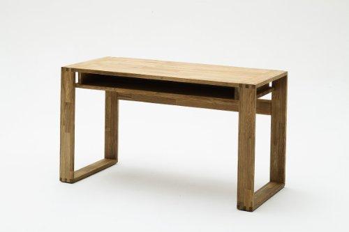 Dreams4Home Schreibtisch Kerstin, Kernbuche od. Asteiche Holz massiv, Bürotisch, PC Tisch, Sekretär, Farbe:Kernbuche