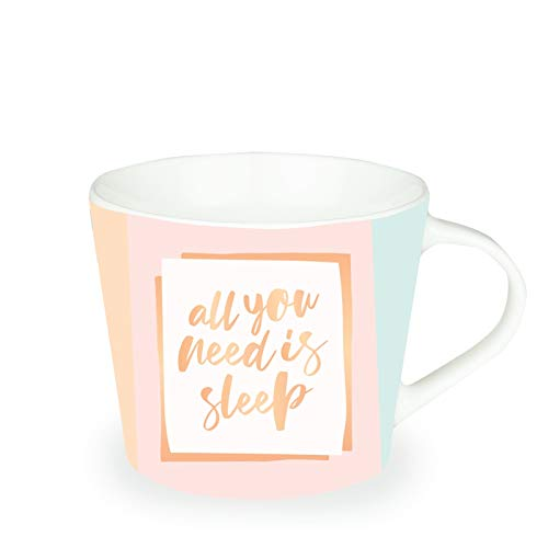 Grafik-Werkstatt Premium-Tasse, Lieblingstasse, Kaffeetasse, Teetasse, Goldveredlung, All You Need is Sleep