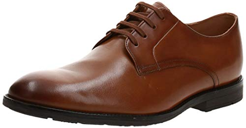 Clarks Ronnie Walk, Zapatos de Cordones Derby, Marrón (Tan Leather Tan Leather), 45 EU