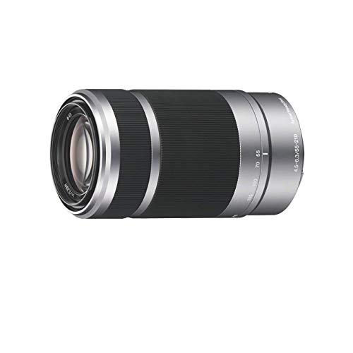 Sony SEL-55210 Obiettivo con Zoom 55-210 mm F4.5-6.3, Stabilizzatore Ottico, Mirrorless APS-C, Attacco E, SEL55210, Argento
