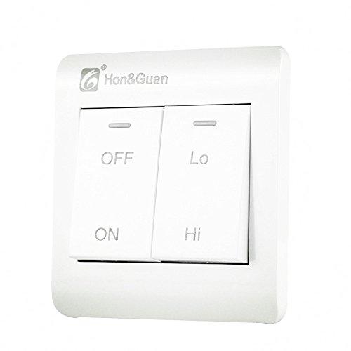 Hon&Guan Interruptor de Doble Velocidades para Ventilador Extractor de Aire en Línea