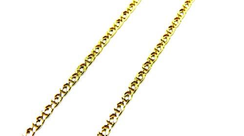Collana da Uomo in Oro Giallo 18kt (750) Catena Maglia Accoppiata Cm 50 Catenina