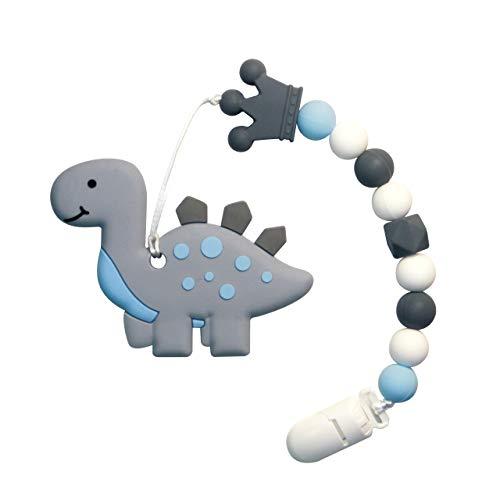 Beißring für Babys Baby Zahnungshilfe Kühlend Zahnen Spielzeug Zahnungshilfe BPA Frei Weich mit Schnuller Clip für Kleinkind Säugling Jungen Mädchen (JRBT-GD)
