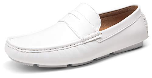 Men's White Slip On Loafers for Miami Vice Costume