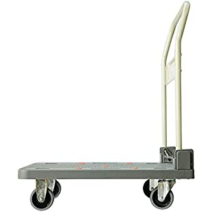 Trolley Shopping Grocery Foldable Cart 4 Wheels Heavy Duty Flatbed Utility Dolly