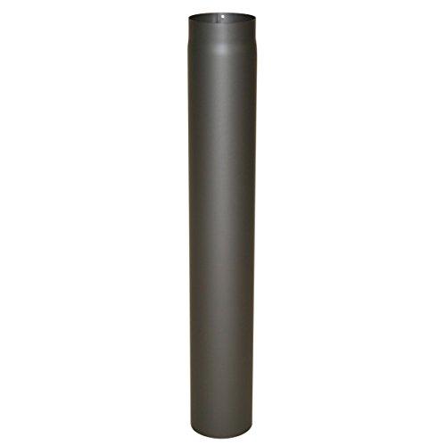Ofenrohr Senotherm® 2 mm Ø 120 mm hitzebeständig lackiert, gerade - Rauchrohr, Kaminrohr gussgrau - für Pellettofen und Kamine - Länge: 1000 mm