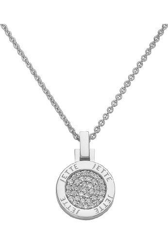 JETTE Silver Damen-Kette 925er Silber 37 Zirkonia One Size 85843737