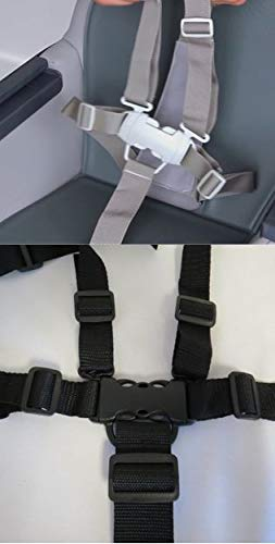 Replacement Parts/Accessories to fit Peg Perego Strollers, Car Seats and High Chair Products for Babies, Toddlers, and Children (High Chair Buckle with Straps)