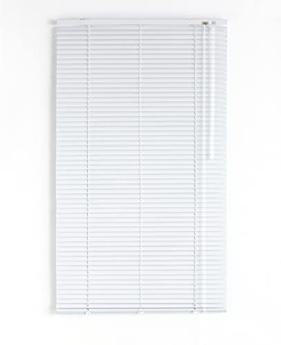 Blindecor - Veneciana de Aluminio, Lama de 25 mm, Blanco, 150X250 cm