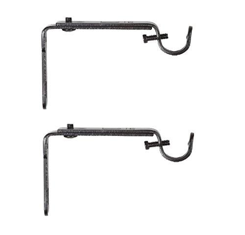 Umbra 244930-038 , Black Adjustable Bracket for Drapery Rod, Single Pack with 2 Piece