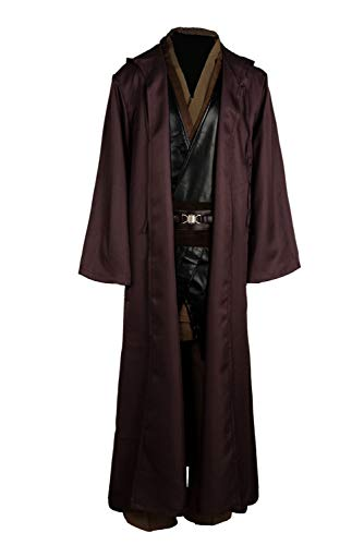 Tunic Costume Jedi Cosplay Costume Mens Halloween Anakin Skywalker Cosplay Costume Tunic Robe Full Set (Small, Anakin(Set))