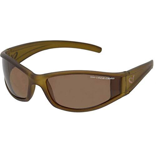 Savage Gear Schmal Sonnenbrille schwimmend Polarisierte Sonnenbrillen - Dunkelgrau (Sonnig)