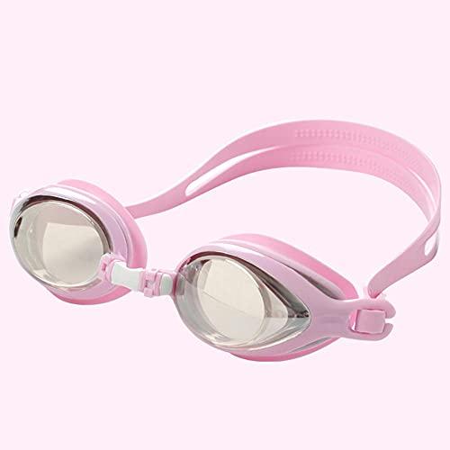 LSJA0 gafas natación impermeables profesionales sin fugas con caja de embalaje para hombres y mujeres-Rosa_-5.0