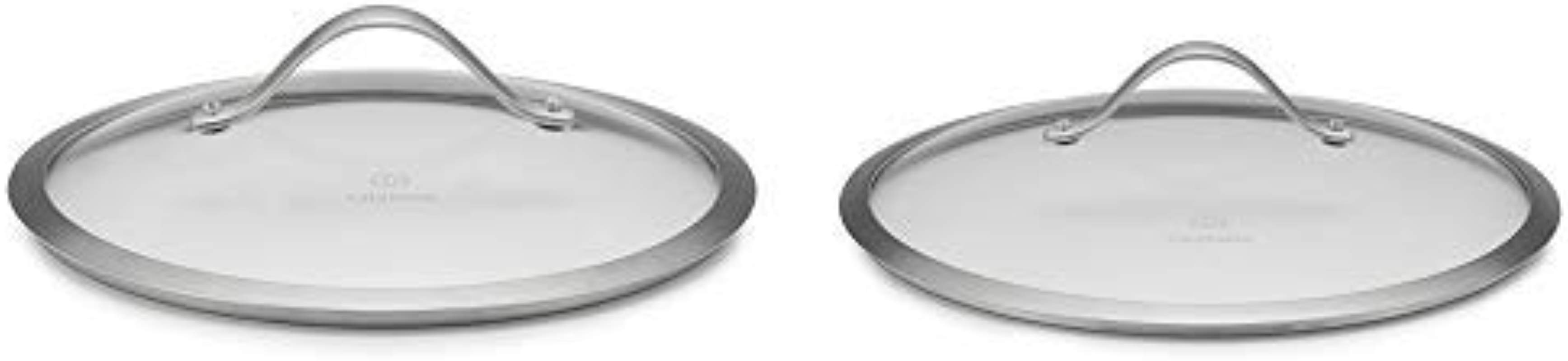 Calphalon Contemporary Pot Pan Lid Glass Cover 10 In AND Calphalon Contemporary Hard Anodized Aluminum Nonstick Cookware Lid 12 Inch Glass