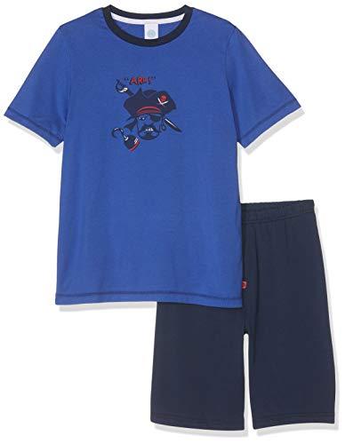 Sanetta Jungen Pyjama Short Zweiteiliger Schlafanzug, Blau (Caribian Blue 50300), 140