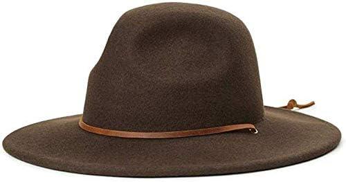 BRIXTON Mens Tiller Wide Brim Felt Fedora Hat