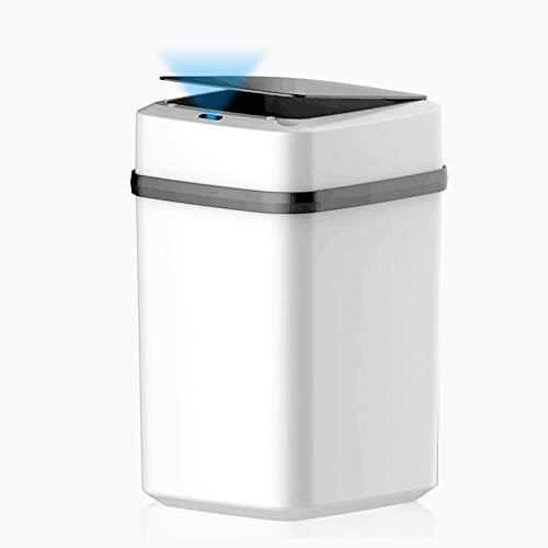 Dyna-Living Automatischer Mülleimer,Abfalleimer mit Deckel,10L,Küche Mülleimer mit Sensor Automatik,Badezimmer-mülleimer,Kunststoff (ABS+PP),Geruchdichtem,Bequemlichkeit