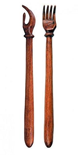 Rückenkratzer aus Holz (Soar-Wood) an einem Stück geschnitzt, ca. 50 cm lang
