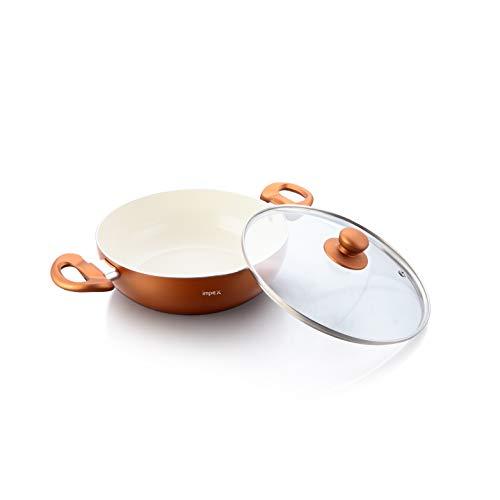 Impex PEARL-2475 Ceramic Coated Nonstick Aluminium Kadai Pan...