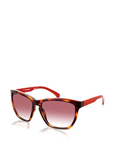 Calvin Klein Gafas de Sol CKJ757S-239 (57 mm) Havana/Rojo