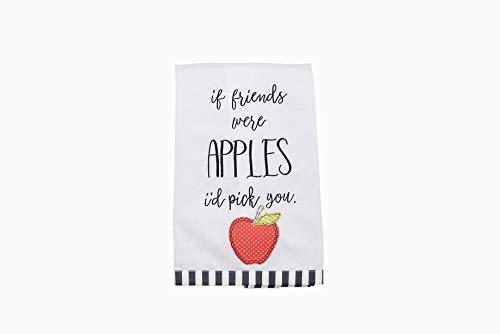 Glory Haus Soft Fruit Tea Towel, Multi Theme (If Friends were Apples I'd Pick You)