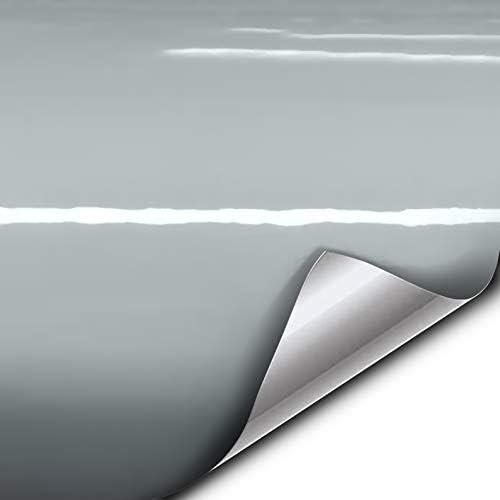 VVIVID XPO Gloss Elephant Grey Nardo Gray Vinyl Car Wrap Film DIY Easy to Install No-Mess Decal (3ft x 5ft)