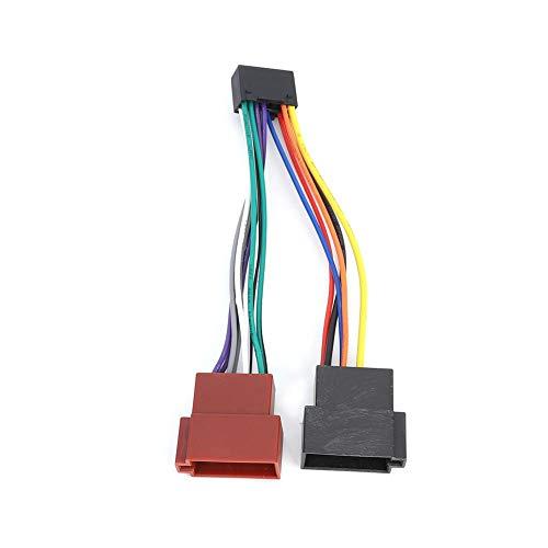 Tbest ISO Kabelbaum Adapter Konverter, 16-poliger Radioadapter Adapter für ISO-Bus-Kabelbaumstecker 16 Pin Auto Radio Adapter Kabel Stecker Passend für Kenwood NC
