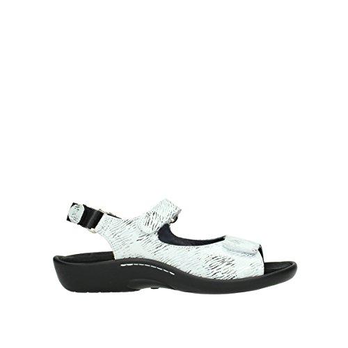 Wolky Comfort Sandalen Salvia - 70110 Weiss/schwarz Nubukleder - 37