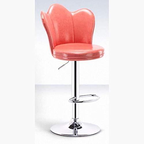 Chaise Chaise de Bar Tabouret de Bar Banc Haut Ascenseur Rotatif Petit-déjeuner Bar Comptoir Cuisine Et Famille Bar Chaise Caisse enregistreuse Chaise pivotante Restaurant Café (Color : Pink)