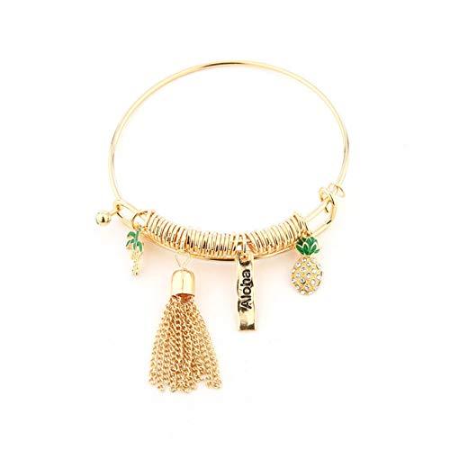 DBSUFV Pendientes de moda de oro rosa antiguo Pendientes de acrílico de moda para mujer Chica Pendiente colgante de gota de resina Joyas (Verde