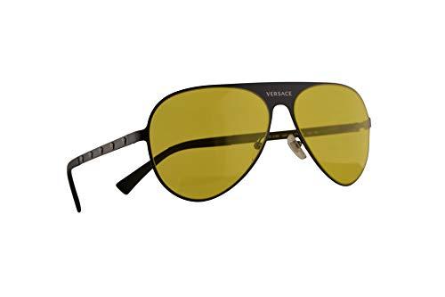 Versace VE2189 zonnebril Mat Zwart met gele lens 59mm 126185 VE 2189
