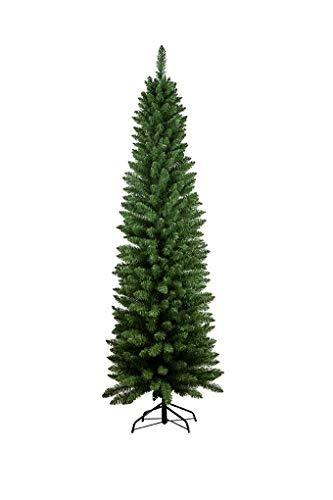Flower Fantasy Albero Di Natale 240CM Abete Slim Deluxe PENICEL FOLTO Ecologico PVC 505 RAMETTI